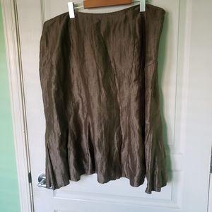 Louben for LauraPlus Linen Skirt Size 18W